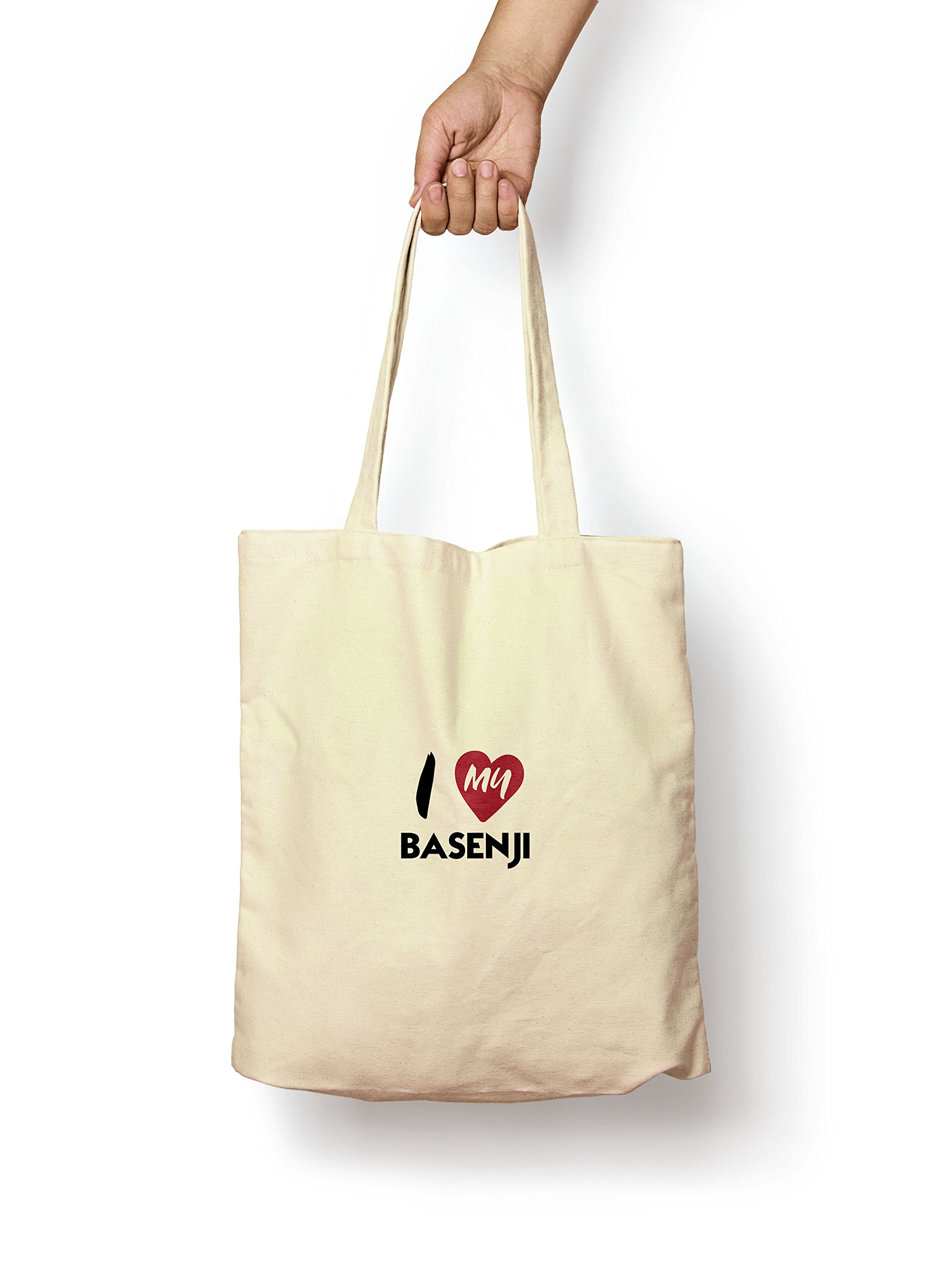I Love My Basenji – Canvas Tote Bag