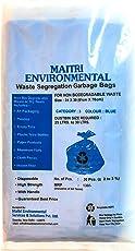 Dry Waste Garbage Bags (Blue) (24X30) (120 PCS)