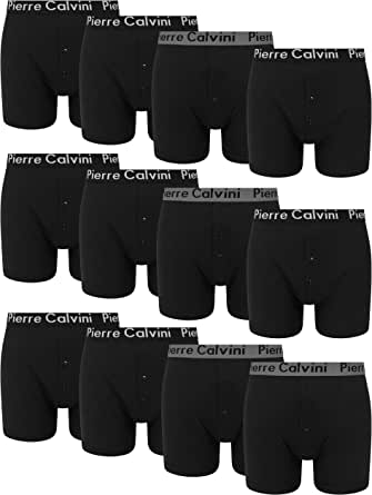 FM London Men's Button Fly Boxer Shorts (Pack of 12)