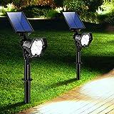 【2020 Nuevo】 Lámpara Solares Exterior, 3 Modos de Brillo Focos LED Exterior, Impermeable IP65 Focos Solares, Ajuste de Ángulo