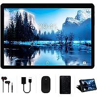 Tablet 10 Pollici YESTEL 4GB RAM+64GB ROM +Espanso 128GB con Schermo IPS HD Quad Core Tablets Dual LTE SIM con WIFI | 8000mAh | Bluetooth | GPS | con Tastiera e Mouse – Nero