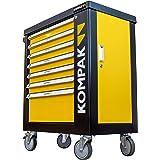 Kompak LZ01 Carro de herramientas de 252 piezas, Amarillo Y Negro