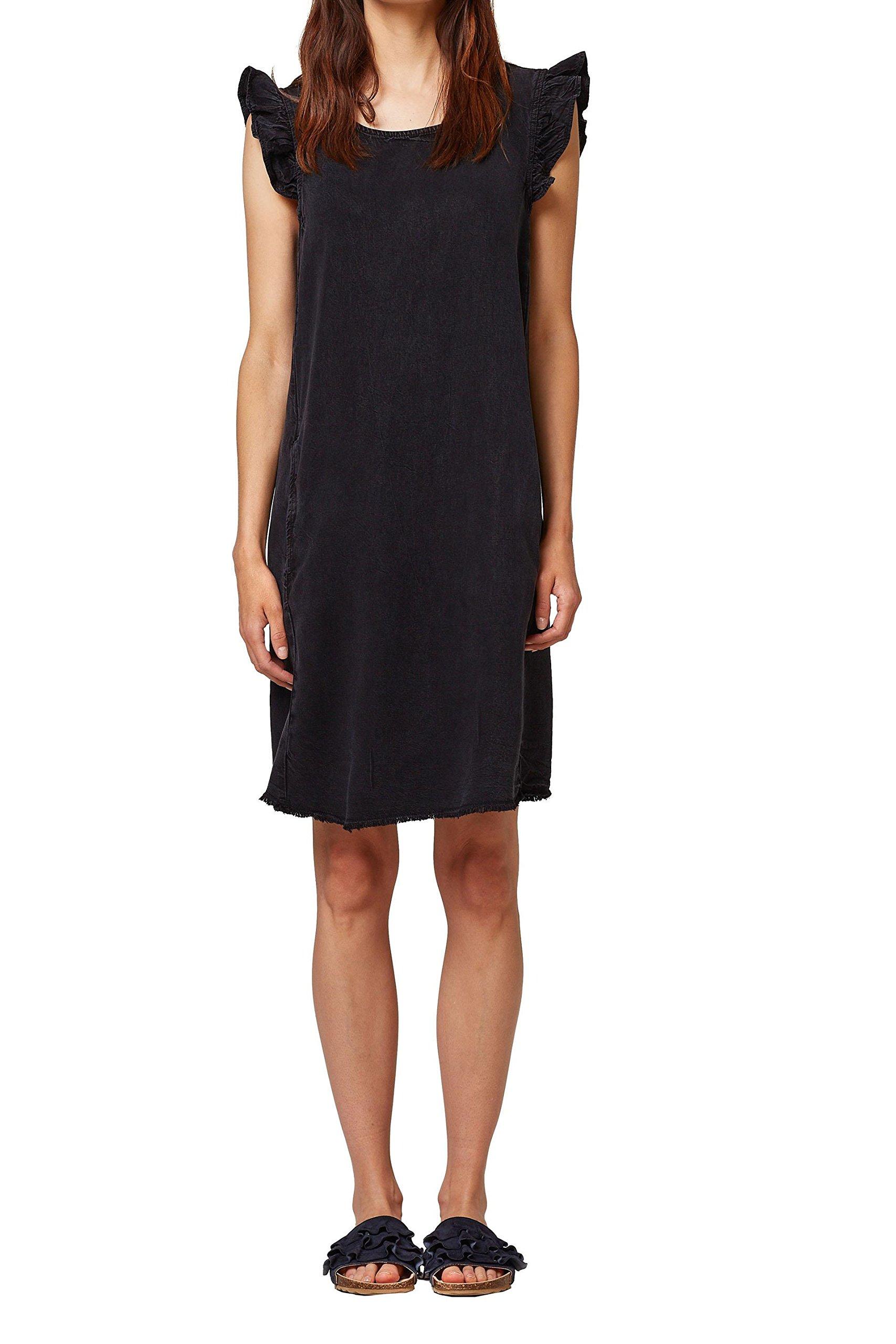 edc by Esprit 078cc1e005, Vestido para Mujer, Gris (Anthracite 010) 42 (Talla del Fabricante: 40)