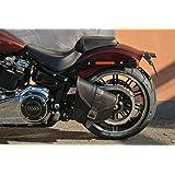 Orletanos Tankpad Braun Kompatibel Mit Harley Davidson Fatboy Heritage Fat Boy Deluxe Classic Springer Ledertasche Kleine Tasche Tankpanel Tankchap Tank Hd Auto