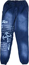Devil Unisex Blue Kids Denim Stylish Jogger/Jeans