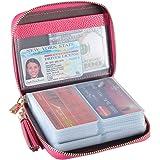 Porta Carte di Credito Donna Uomo 40 Slot Carte Porta Tessere Protezione RFID Portafoglio Pelle Con Cerniera