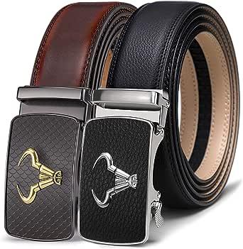 BULLIANT Cintura Uomo, Cinture in Pelle a Cricchetto con Fibbia Automatica,Confezione Regalo