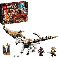 LEGO 71718 Ninjago Le Dragon de WU, Jouet de Dragon de Combat de WU avec Figurines de maître WU et Gleck