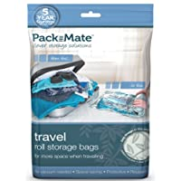 Packmate ® 4 Stück Reise-Vakuumbeutel zum Aufrollen