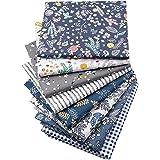 XiYee Tissus en Couture, 7 pièces 50 x 50 cm Tissus en Coton pour Patchwork, Paquets de Tissus pour Patchwork et Patchwork de
