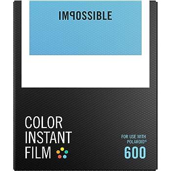 Impossible - pellicule couleurs pour Appareil Polaroid type P600 - cadre blanc - 8 feuilles par boîte