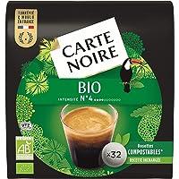 Carte Noire Bio, Café en Dosette Compostables Compatibles Senseo, 10 Paquets de 32 dosettes souples (320 dosettes)