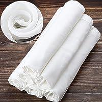 6 Paquets 50 x 50 cm Tissu Mousseline Carré Doux en Coton, Convient pour Filtrer les Fruits, le Beurre, le Vin, Filtre à…