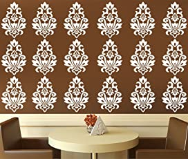 Kayra Decor Reusable Vinyl DIY Painting Wall Stencil for Wall Decor in Plastic Sheet (16x24 Inches)