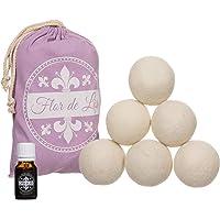 Balles pour sèche-linge en laine avec huile au parfum de talc exclusif, adoucissant, blanchisserie, boules avec parfum…