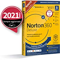 Norton 360 Deluxe 2021, Antivirus per 5 Dispositivi, Licenza di 15 mesi con rinnovo automatico, Secure VPN e Password…