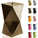 Candellana - Vela geométrica de bajo consumo (12 cm, hecha a mano)