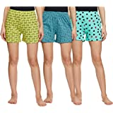 Longies Women's Regular Pure Cotton Shorts