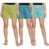 Longies Women's Regular Cotton Shorts