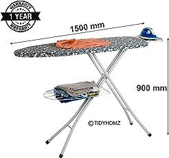 TidyHomz Steel Zaire Foldable Adjustable Height Ironing Board, 126 x 45cm
