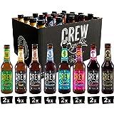 CREW Republic Craft Beer Mix Box, coffret de variétés de bières artisanales, dégustation de bière (20 x 0,33l)
