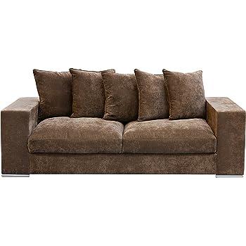 Amaris Elements Sofa Cooper Samt Aus Mikrofaser Braun