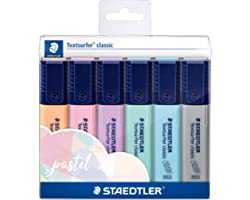 STAEDTLER Textsurfer classic highlighters wallet of 6 Pastel Colours
