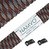 Namvo 550 Paracord Mil Spec Type III 7 strand parachute cord Total Length 100ft/30 Meters Spots/Stripes/Camouflage …