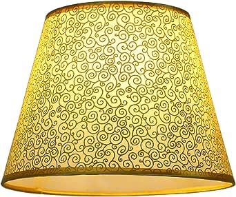Eastlion semplice manuale moderna paralume in PVC per lampada da tavolo, lampada da parete, lampada da comodino, lampada da terra con E27 lampada