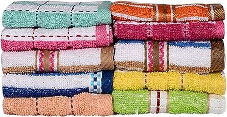 Casa Copenhagen Basics 10 Piece 400 GSM Cotton Face Towel Set - Multicolour
