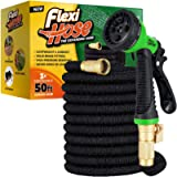 Flexi Hose Upgraded Expandable Garden Hose, Extra Strength, 3/4' Solid Brass Fittings - The Ultimate No-Kink Flexible…