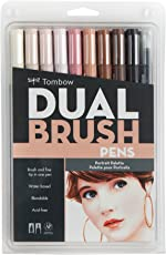 Tombow Dual Brush Pen Set, 10-Pack, Portrait Colors (56170)