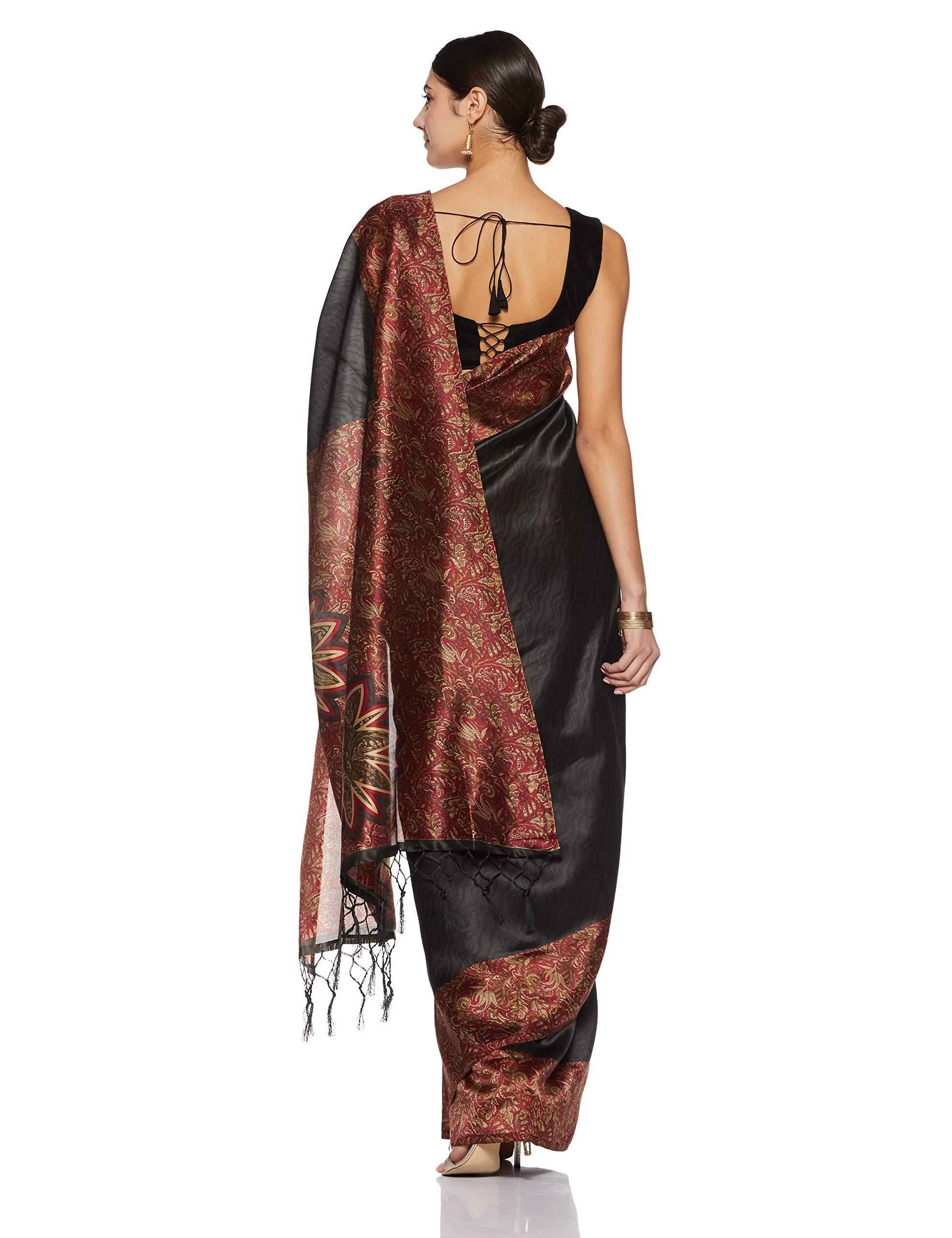 457754e1d Indira Designer Women s Art Mysore Silk Saree With Blouse Piece (Star-Red)  – Gryntha