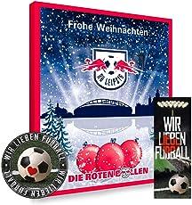 Leipzig RB Premium Adventskalender gefüllt inkl. Poster + gratis Lesezeichen & Aufkleber Wir lieben Fussball