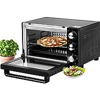 Mini four 21 l   1200 W   Four à pizza   Éclairage intérieur   Avec plaque de cuisson et grille de cuisson   Mini four…