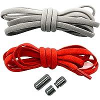 Run out sports Elastische Schnürsenkel ohne binden - schleifenlos - elastisch - Schnellschnürsystem/Schnellverschluss…