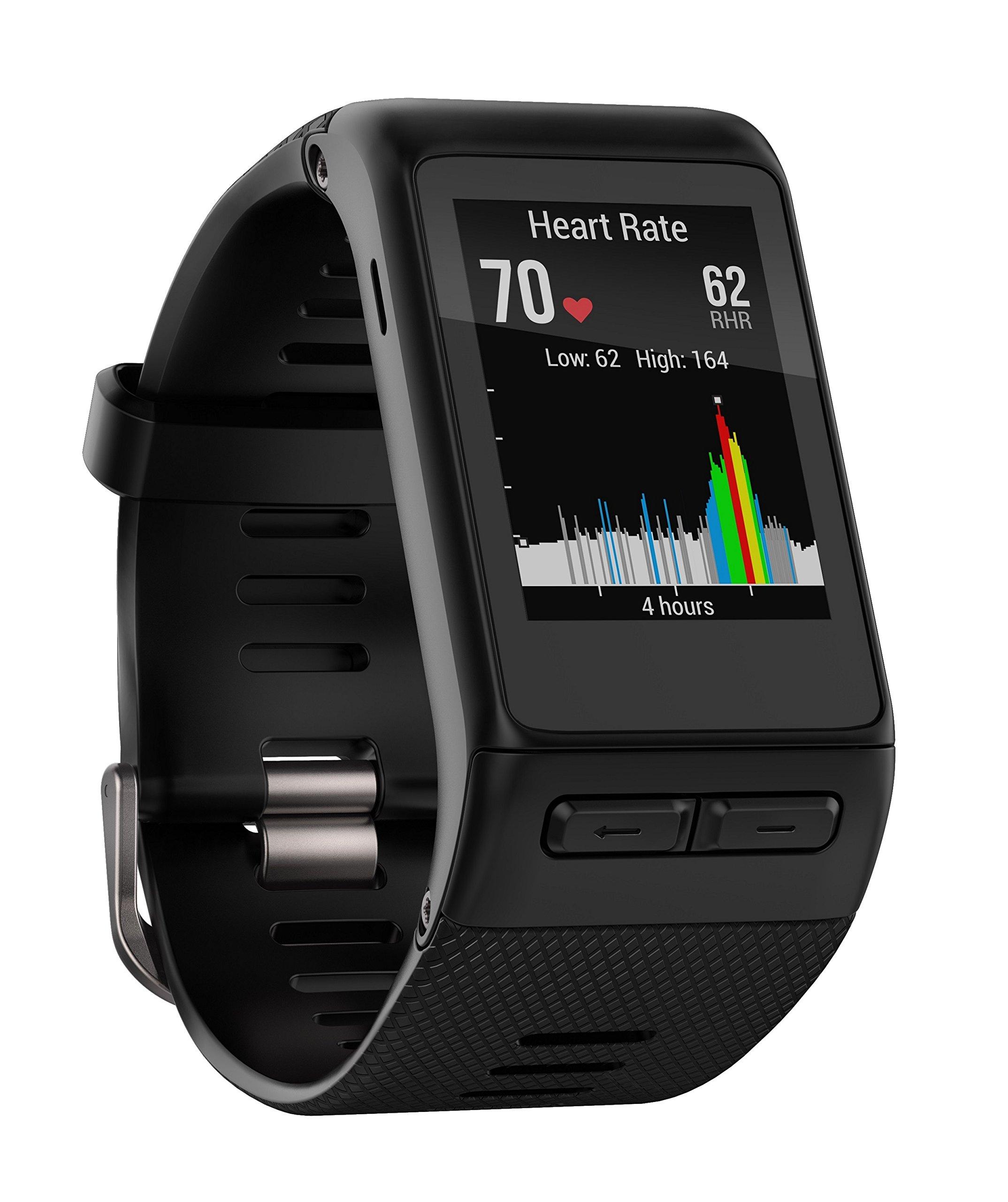 Garmin Vivoactive HR Regular Smartwatch con Cardio al Polso, Profili d'Attività Fisica, Cinturino Regular (M-L), Nero 1 spesavip