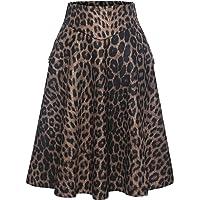 Bbonlinedress Rock Damen Lang Vintage Elegant Plaid Winterrock Warm Elastische Taille A Linie Röcke Casual Rock Hohe…