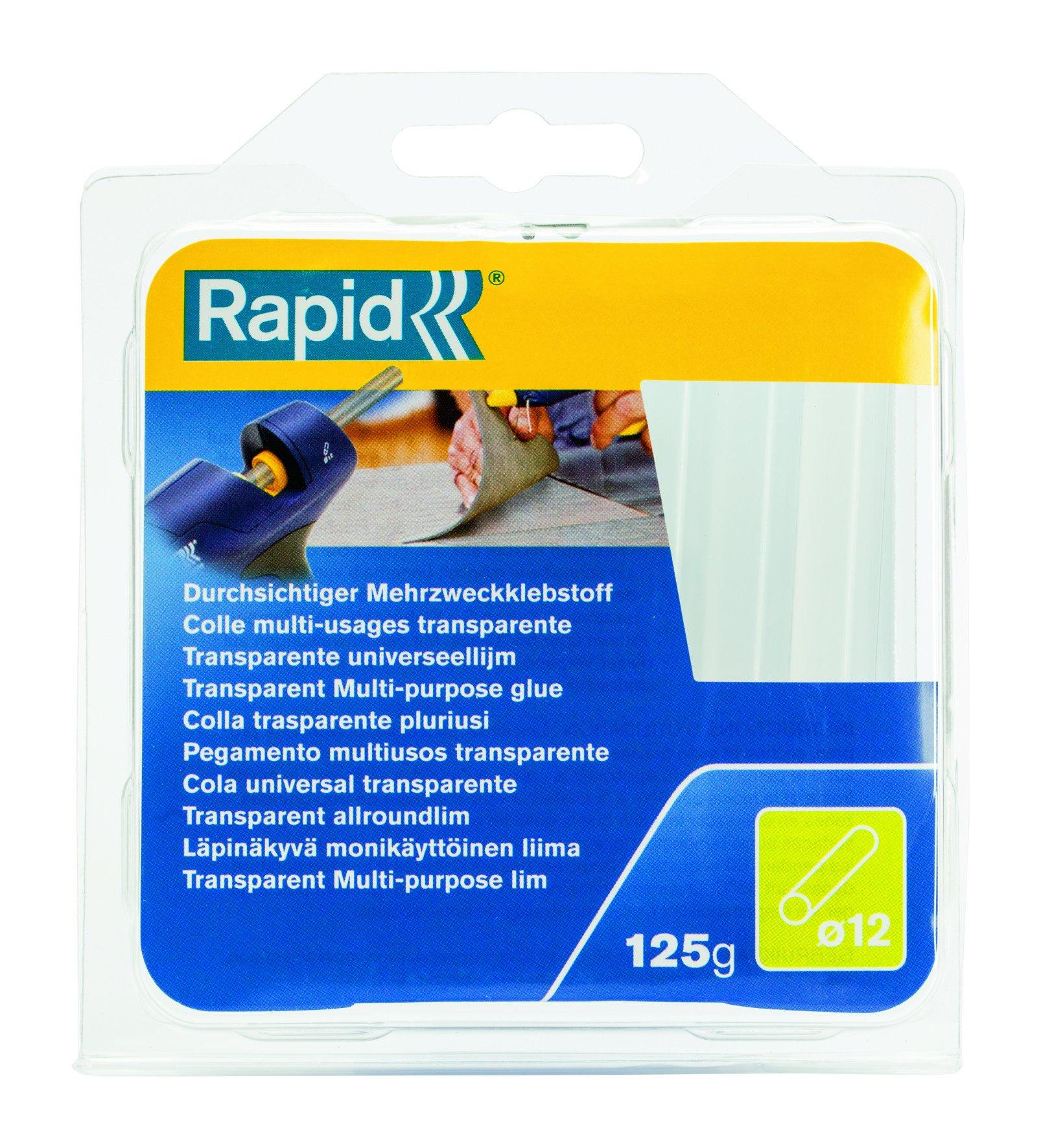 Rapid Stick Di Colla A Caldo, Multiuso, Trasparente, Ø12Mm, Lunghezza 94Mm, 250G, 40107356