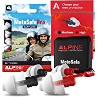 Alpine MotoSafe Pro Gehörschutz Ohrstöpsel Renn- und Touringstöpsel - Verhindern Gehörschäden vom Motorradfahren…