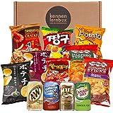 Snack Party Box   Kennenlernbox mit 12 beliebten Chips und Getränke aus den USA, Korea und Japan   Für Filmabende oder als Ge