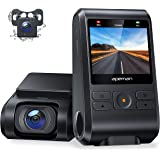 APEMAN Dual Dash Cam C550, 1080P Front and Rear Hidden Car Driving Recorder, IPS Screen, Night Vision, 170° Wide Angle, WDR,