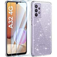 AROYI Cover Compatibile con Samsung Galaxy A32 4G Custodia Glitter Flessibile TPU Silicone Liquid Crystal Custodia Case…