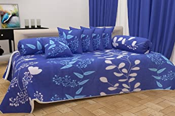 Beautiful Cotton Dewan Set of 8 Pieces with Royal Look and Great Finishing by Shop4indians