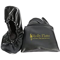 Rolly Flats - Women's Foldable Portable Pumps Flats Ballet Shoes with Carrier Pouch Bag