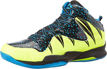 Nivia Heat Basketball Shoes, UK 12 (Black/Aster Blue)