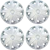 Versaco Van Wheel Trims CRAFT15 - Silver 15 Inch 9-Spoke - Boxed Set of 4 Hubcaps - Includes Fittings/Instructions