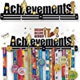 """Medal SPACE® Achievements 20"""" inch Large Size Metal Medal Display Holder"""