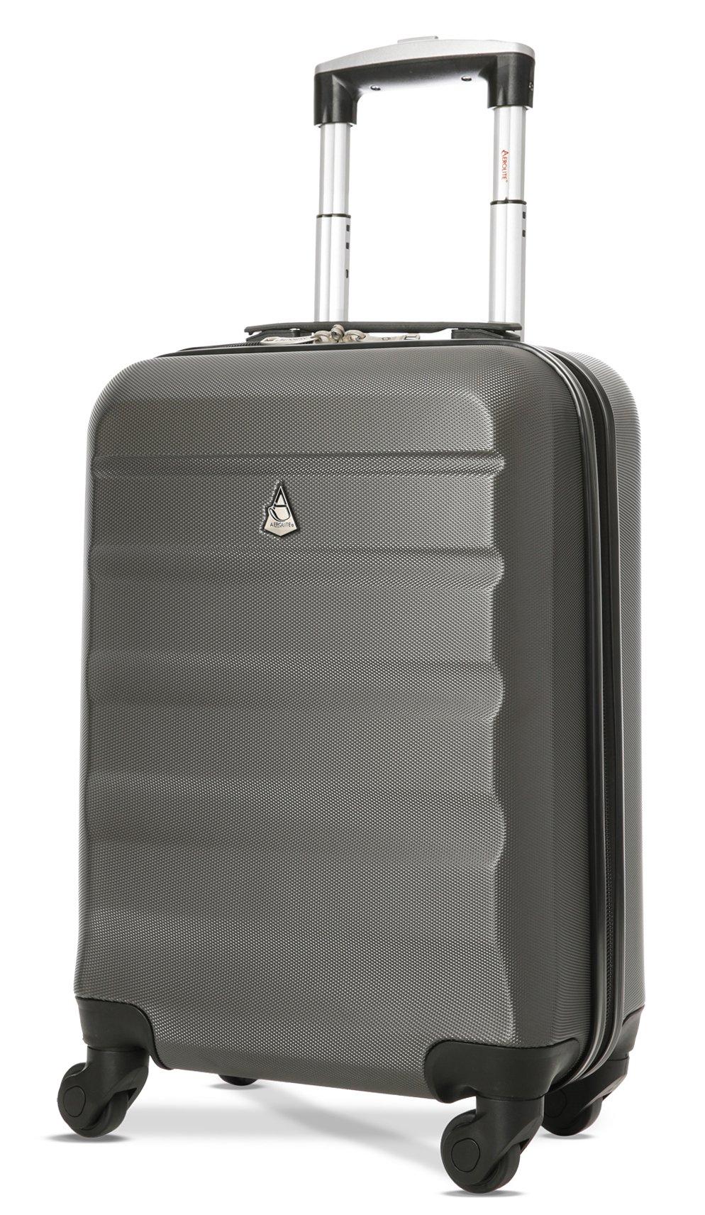 nouvelle arrivee 4dfde 761b5 Aerolite ABS Bagage Cabine Bagage à Main Valise Rigide Légere à 4  roulettes, Approuvées pour Ryanair, Easyjet, Air France, Lufthansa, Jet2,  Monarch et ...