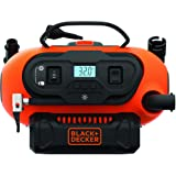 Black+Decker 18V/12V 160PSI/11 Bar Cordless/Corded Multi-Purpose Air Compressor Inflator with Nozzles for Car, Cycles, Inflat